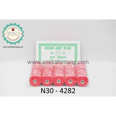 Benang Nylon Cap Peniti No. 30 / Nylon Yarn (Shocking Pink)