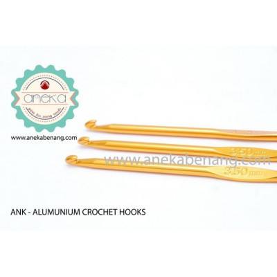 ANK - Aluminium Gold Crochet Hook