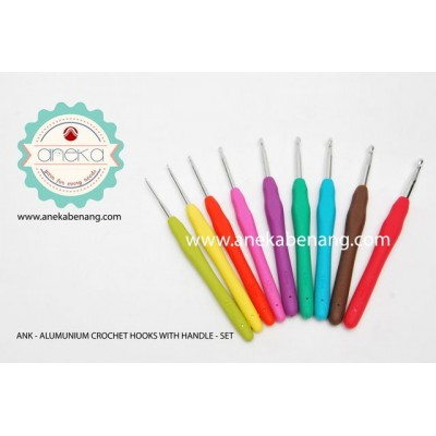 ANK - Alumunium Crochet Hook With Handle - Set