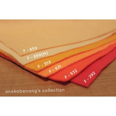 Kain Felt / Flanel - Orange
