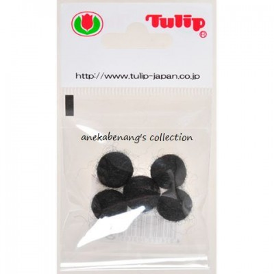 Tulip - Handmade Felt Balls 10 mm, 5 pcs. Black