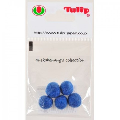Tulip - 10 mm Felt Balls Grey Blue
