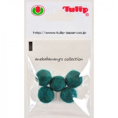 Tulip - Handmade Felt Balls 10 mm, 5 pcs. Green