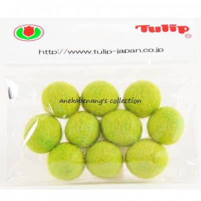 Tulip - 20 mm Felt Balls Apple Green