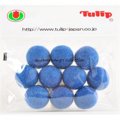 Tulip - 20 mm Felt Balls Grey Blue
