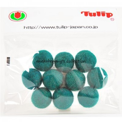 Tulip - 20 mm Felt Balls Green