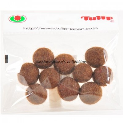 Tulip - 20 mm Felt Balls Brown