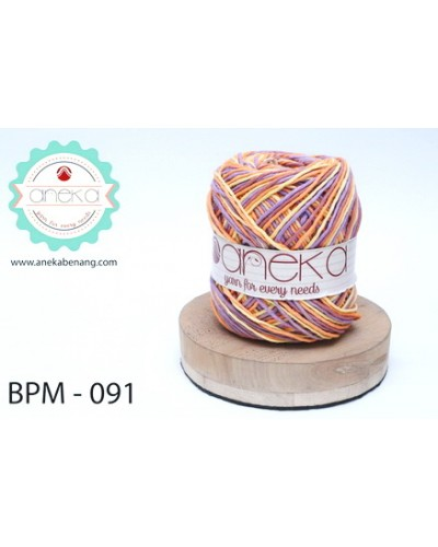 Benang Rajut Katun Big Ply Mambo / Sembur / Mix-color Cotton Yarn - 091