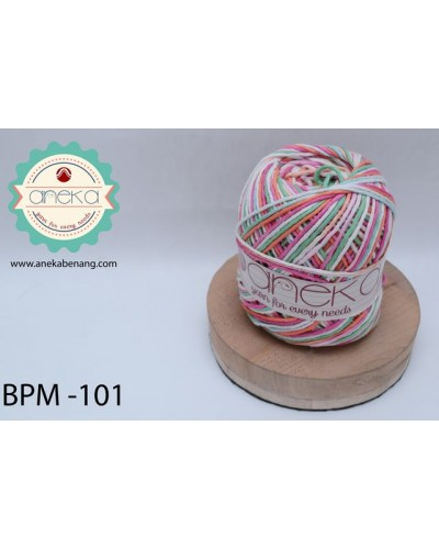 Benang Rajut Katun Big Ply Mambo / Sembur / Mix-color Cotton Yarn - 101
