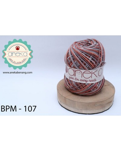 Benang Rajut Katun Big Ply Mambo / Sembur / Mix-color Cotton Yarn - 107