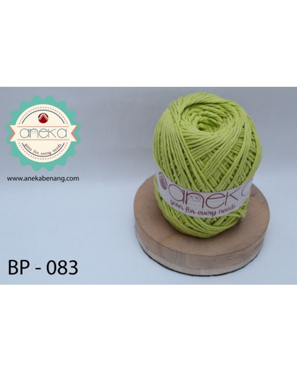 Benang Katun Big Ply / Cotton Yarn - 083 ( Hijau Daun )