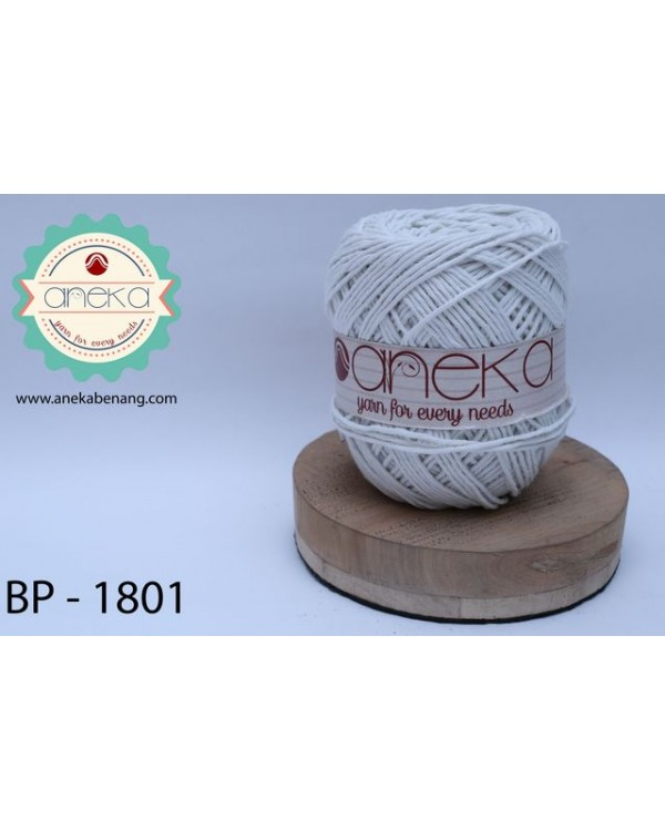 Benang Rajut Katun Big Ply / Cotton Yarn - 1801 (Putih)