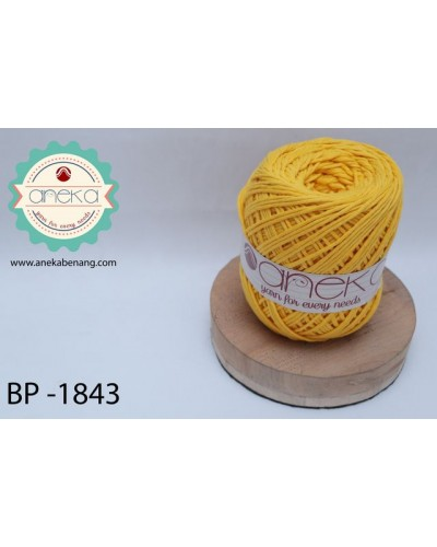 Benang Rajut Katun Big Ply / Cotton Yarn - 1843 ( KuningTua )