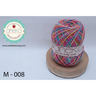 Benang Rajut Katun Mambo / Sembur / Mix-color Cotton Yarn - 008