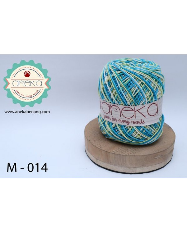 Benang Rajut Katun Mambo / Sembur / Mix-color Cotton Yarn - 014