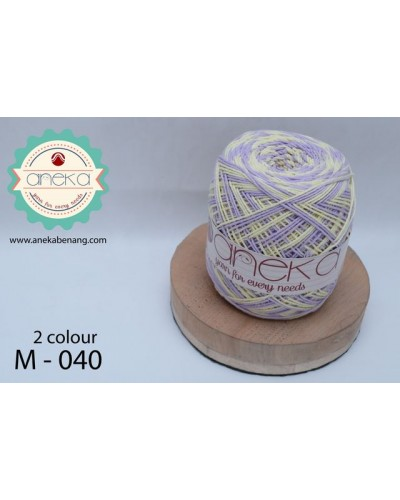 Benang Rajut Katun Mambo / Sembur / Mix-color Cotton Yarn - 040