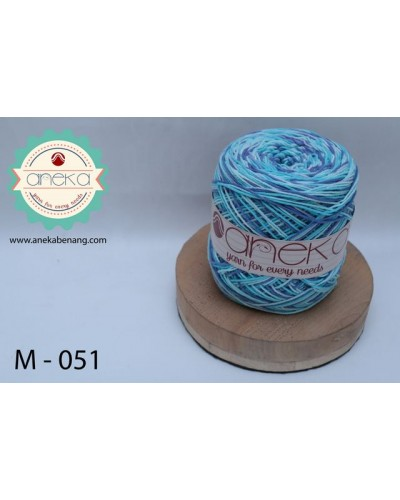 Benang Rajut Katun Mambo / Sembur / Mix-color Cotton Yarn - 051