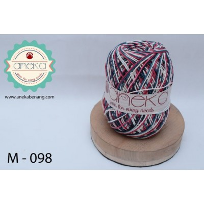 Benang Rajut Katun Mambo / Sembur / Mix-color Cotton Yarn - 098