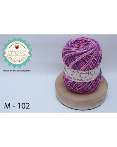 Benang Rajut Katun Mambo / Sembur / Mix-color Cotton Yarn - 102