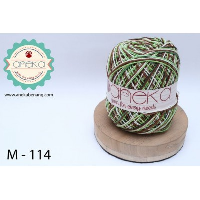Benang Rajut Katun Mambo / Sembur / Mix-color Cotton Yarn - 114