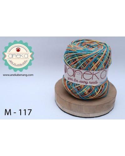 Benang Rajut Katun Mambo / Sembur / Mix-color Cotton Yarn - 117