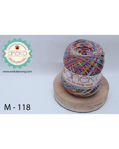 Benang Rajut Katun Mambo / Sembur / Mix-color Cotton Yarn - 118