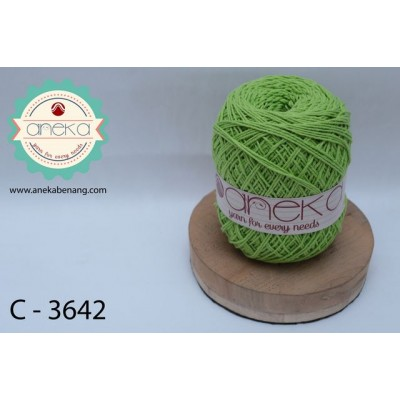 Benang Rajut Katun Polos /Cotton Yarn - 3642 ( Hijau Lemon )