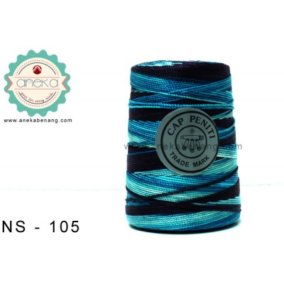 Benang Rajut Nylon Sembur Cap Peniti / Mix-color Nylon Yarn - 105