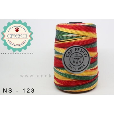 Benang Rajut Nylon Sembur Cap Peniti / Mix-color Nylon Yarn - 123