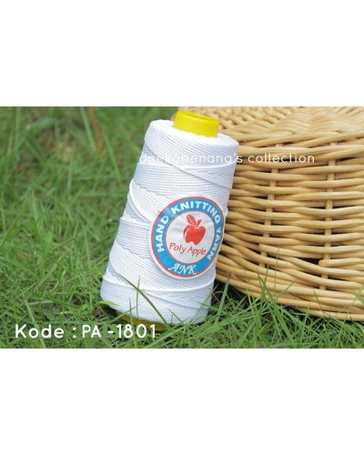 Benang Rajut Poly Apel / Apple Yarn - 1801 ( White )
