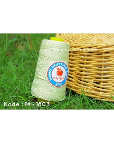 Benang Poly Apel / Apple Yarn - 1803 (Kuning Baby)