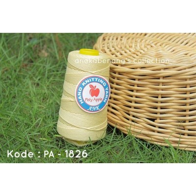 Benang Rajut Poly Apel / Apple Yarn - 1826 (Kuning Pucat)