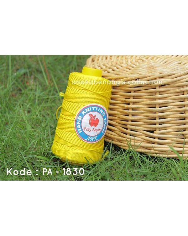 Benang Rajut Poly Apel / Apple Yarn - 1830 (Kuning Lemon)
