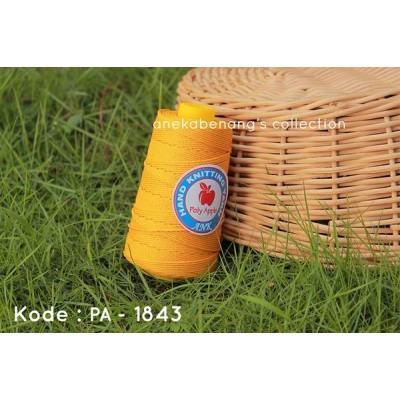 Benang Rajut Poly Apel / Apple Yarn - 1843 (Kuning)