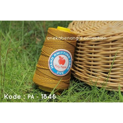 Benang Rajut Poly Apel / Apple Yarn - 1846 (Kuning Emas)