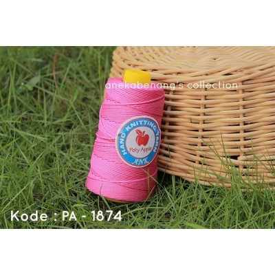 Benang Rajut Poly Apel / Apple Yarn - 1874 (Pink Terang)