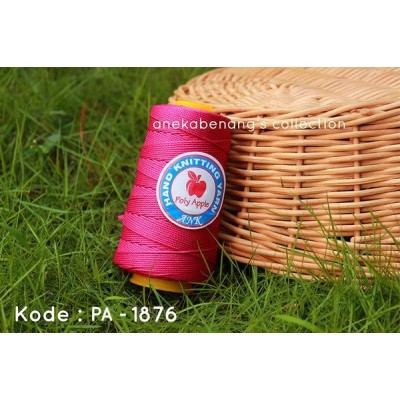 Benang Rajut Poly Apel / Apple Yarn - 1876 (Pink Fuchsia)
