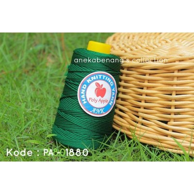 Benang Rajut Poly Apel / Apple Yarn - 1880 (Hijau Tua)
