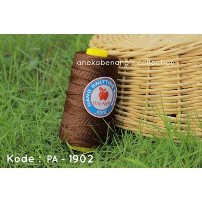 Benang Rajut Poly Apel / Apple Yarn - 1902 (Dark Brown)