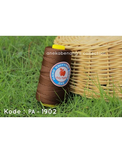 Benang Poly Apel / Apple Yarn - 1902 (Dark Brown)