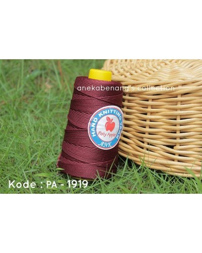 Benang Poly Apel / Apple Yarn - 1919 (Merah Maroon)