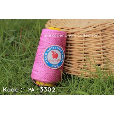 Benang Rajut Poly Apel / Apple Yarn - 3302 (Pink Orchid)