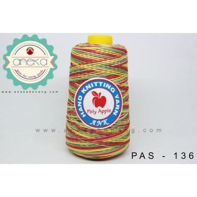 Benang Rajut Poly Apple Sembur / Mixcolour Poly Apple Yarn - 136