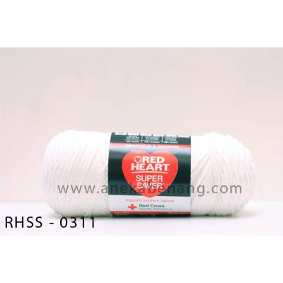 Red Heart Super Saver #0311 (White)