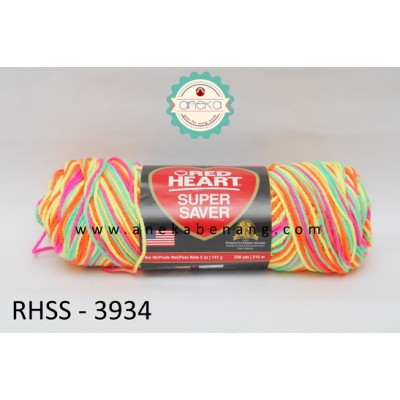 Red Heart Super Saver #3934 (Day Glow)