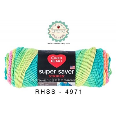 Red Heart Super Saver Stripes #4971 (Retro Stripes)