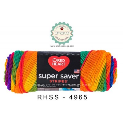 Red Heart Super Saver Stripes #4965 (Favorite Stripes)