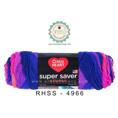 Red Heart Super Saver Stripes #4966 (Flamenco Stripes)