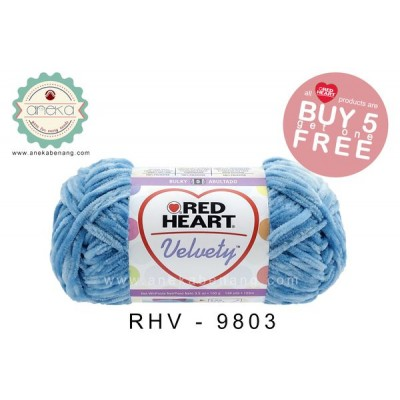 Red Heart Velvety #9803 (Lake)