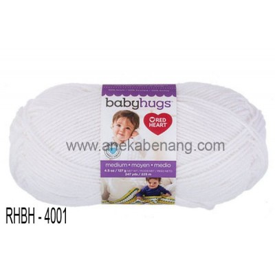Red Heart Baby Hugs Medium #4001 (Frosting)